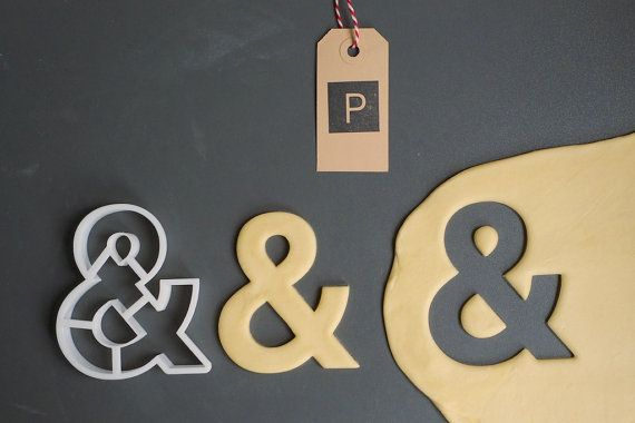 Helvetica ampersand cookie cutter + other great book-inspired cutters for all your literary cookie needs.