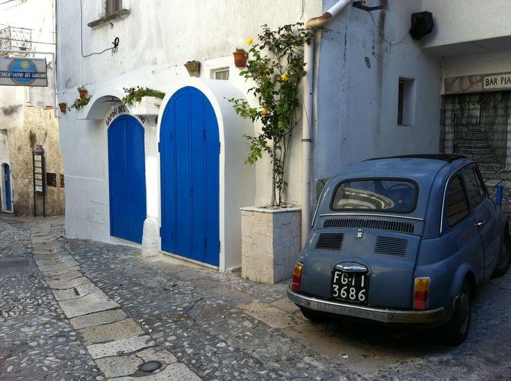 FIAT 500 in the streets of Peschihi, Puglia