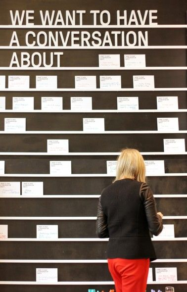 Conversation Wall | Daily tous les jours - what a fantastic idea for opening the path to community engagement