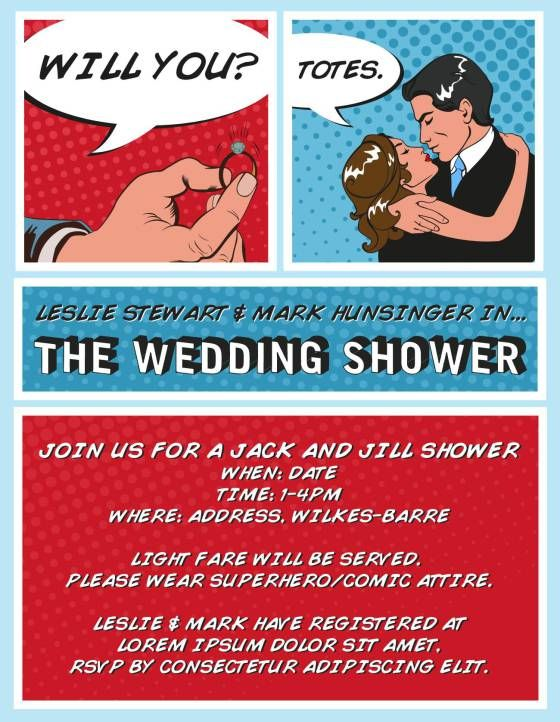 The Superhero Shower: Iu0027m Styling My Wedding Shower Straight Out Of A Comic