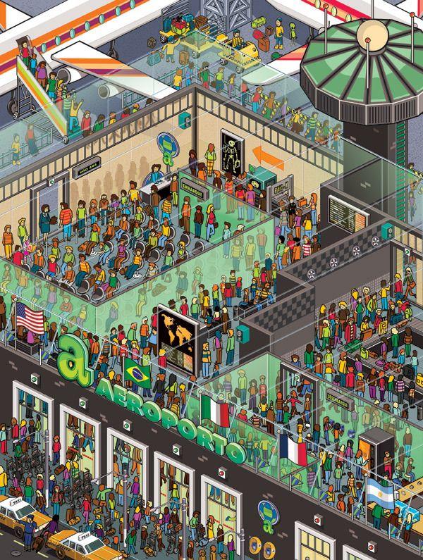 Pixel Art by Gus Morais, via Behance
