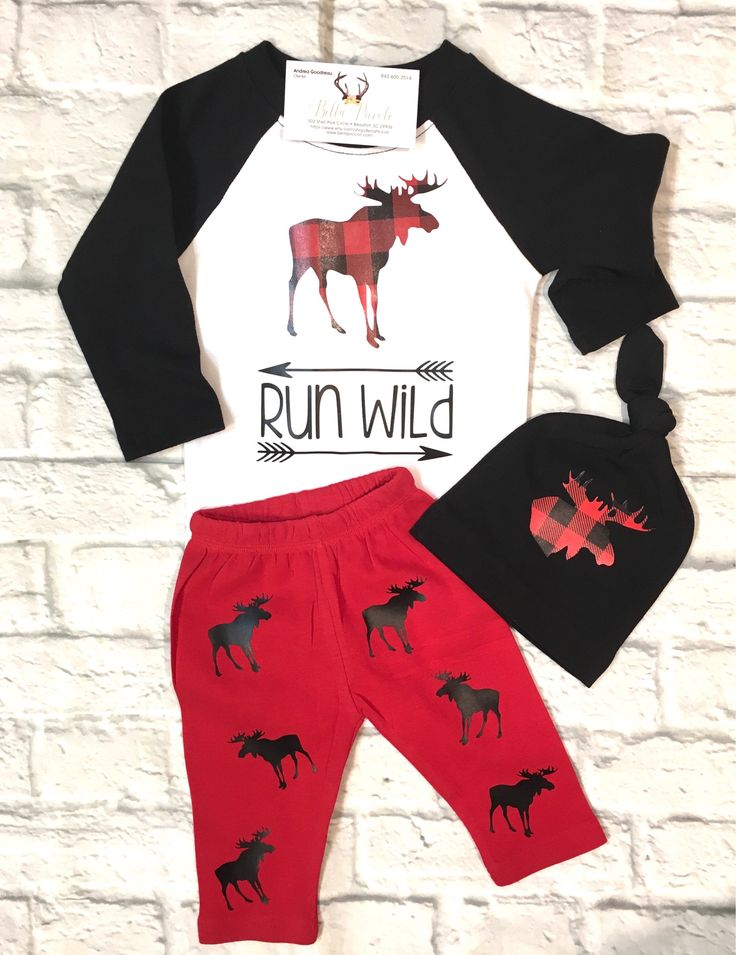 A personal favorite from my Etsy shop https://www.etsy.com/listing/583365839/baby-boy-clothes-run-wild-bodysuit-moose