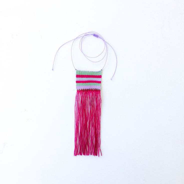 Colorful cotton woven necklace https://www.etsy.com/shop/AlfaHandmade?ref=hdr_shop_menu&section_id=21157183