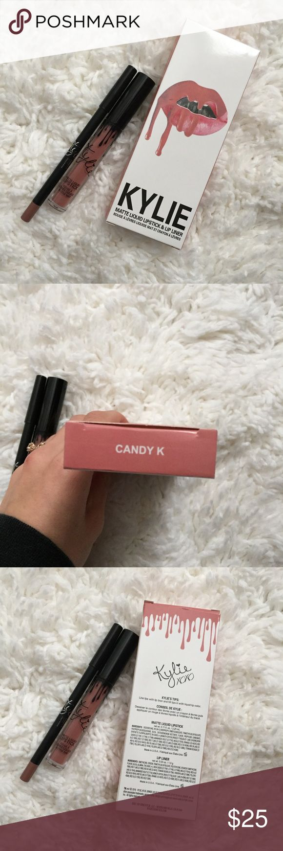 SALE! Kylie Cosmetics Candy K Lip Kit *Kylie Cosmetics Candy K Lip Kit* • Condition: NWT, I did test the color and it wasn't for me • Defects: none • Color: Candy K (pink nude) Unsure of authenticity. Smells like candy! The color is beautiful! Just not for me.  + Offers welcome! Bundle for more savings! :) Kylie Cosmetics Makeup Lip Balm & Gloss