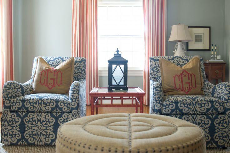 Living room adele lexington lacefield spicer lapis ikat upholstered