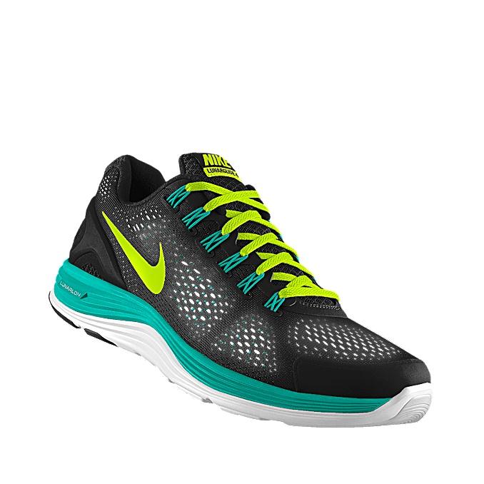 buy online ac43e fa7ea ... Custom Nike LunarGlide+ 4 Shield iD Womens Running Shoe .