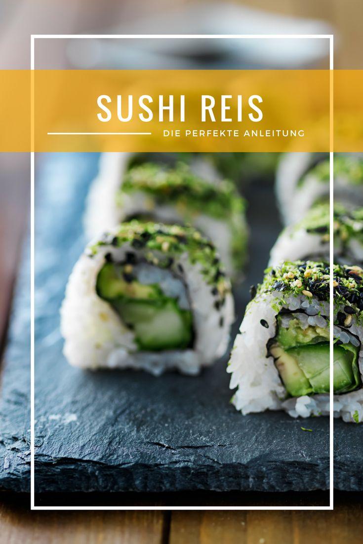 Sushi Reis koch und zubereiten ist gar nicht so einfach. Hier findet ihr die perfekte Anleitung. #sushi #reis #sushireis #kochen #zubereiten #anleitung #sushi selbermachen #vegan #vegetarisch #veganfood #glutenfree #glutenfrei #food #veganrezept #veganerezepte #sushirezept #reiskochen