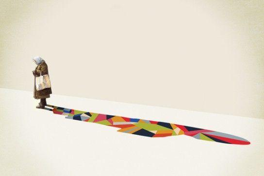 Walking Shadow by Jason Ratliff / #Illustration #Design
