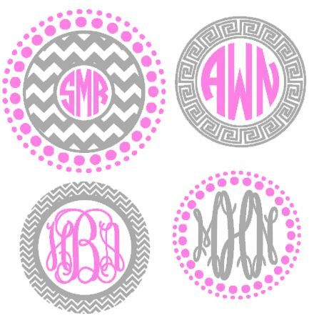 this circle monogram frames cutting file is an instant digital download file to be cut out - Monogrammed Picture Frames
