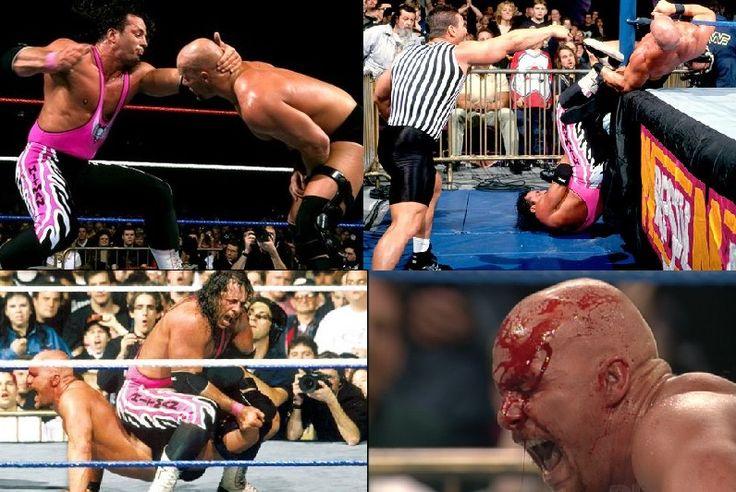 Best WWE Fights Ever_Bret Hart vs. Steve Austin Submission Match (WrestleMania 13)