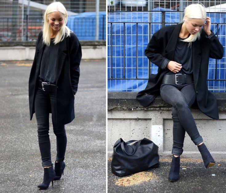 Today's Outfit by Ann Victoria Törnegren on Devote.se. Shoes: BikBok. Jacket: Cubus. Belt: Gina Tricot. T-shirt: Gina Tricot. Jeans: JC. Väska: H&M.