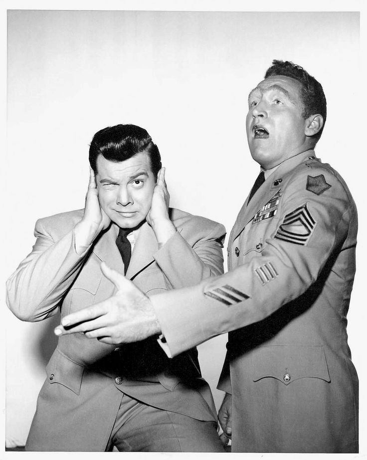 """Mario Lanza and James Whitmore in a promotional photo for Alexander Hall's """"Because You're Mine"""" (1952)."""