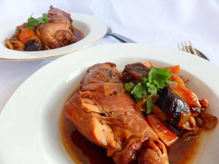 Rabbit Stew with Prunes