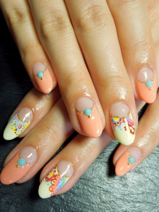 Allure Nail Catalog » Blog Archive » ガーリーペイズリー ネイル
