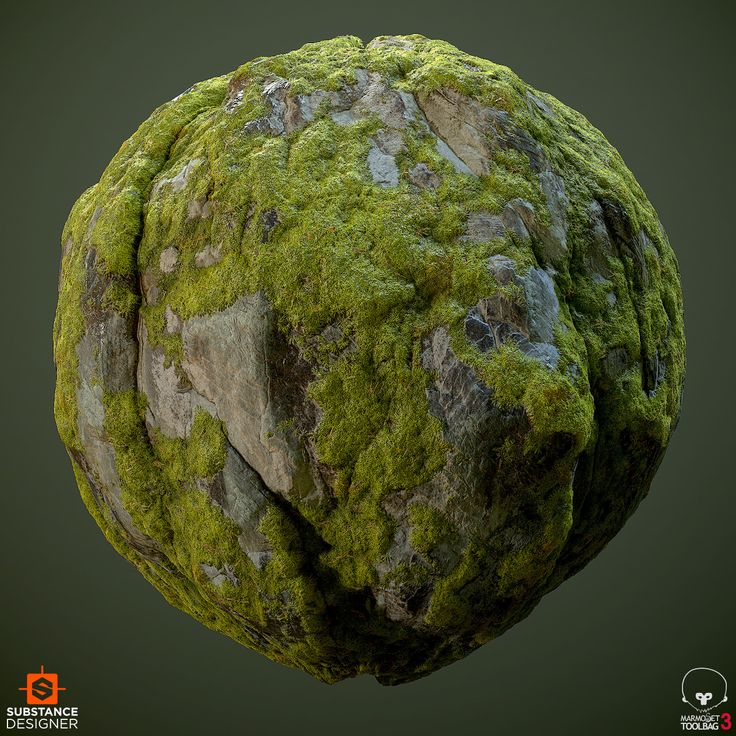 ArtStation - Mossy Granite Cliff, Daniel Thiger