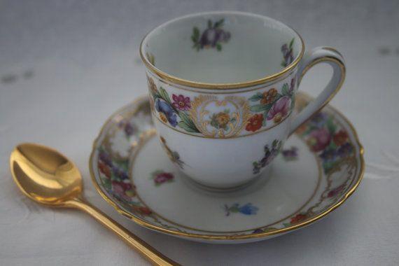 Schumann Arzberg Bavaria Demitasse Cup and Saucer. by TinasDecor