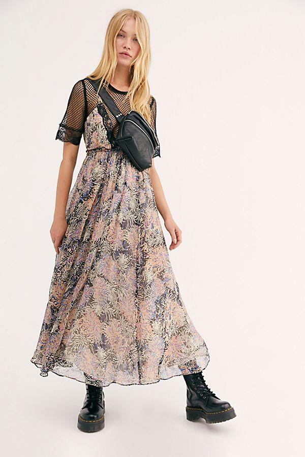 Friar Park Dress Print Chiffon Maxi Dress Maxi Dress Clothes For Women