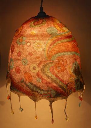 felted lampshade, Ksenya Shinkovskaya