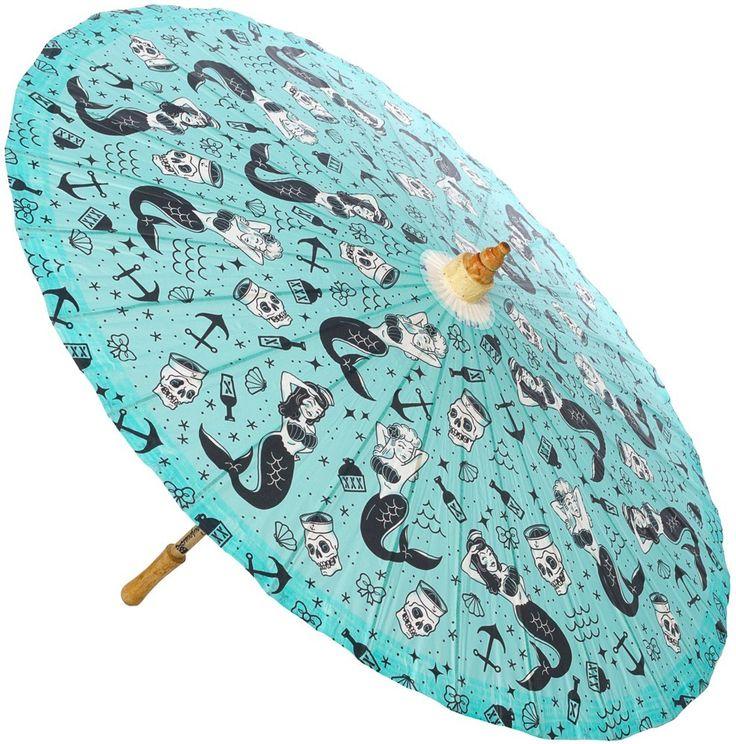 The Violet Vixen - Mermaids Sun Parasol, $28.00 (http://thevioletvixen.com/accessories/parasols/mermaids-sun-parasol/)