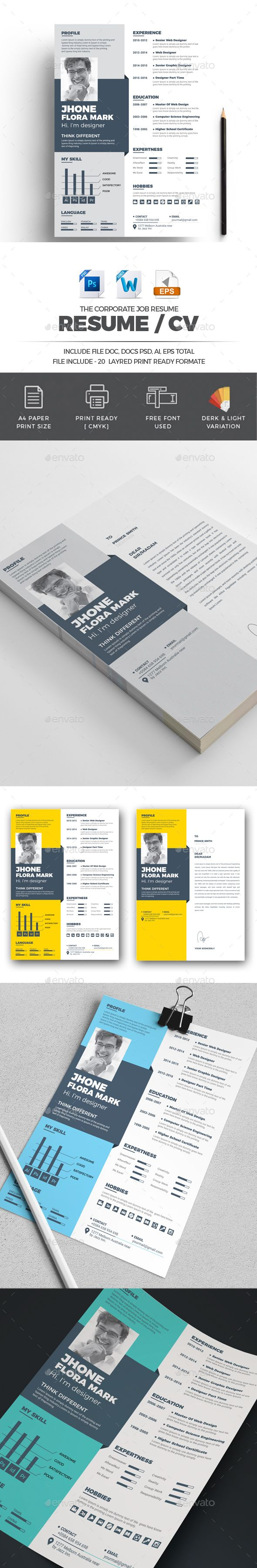 Resume #the cv #fast  • Download here → https://graphicriver.net/item/resume/21341474?ref=pxcr
