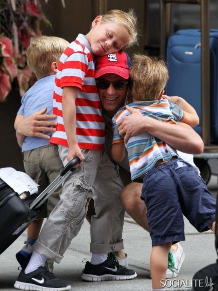 Matt Bomer Gets A Family Bear Hug