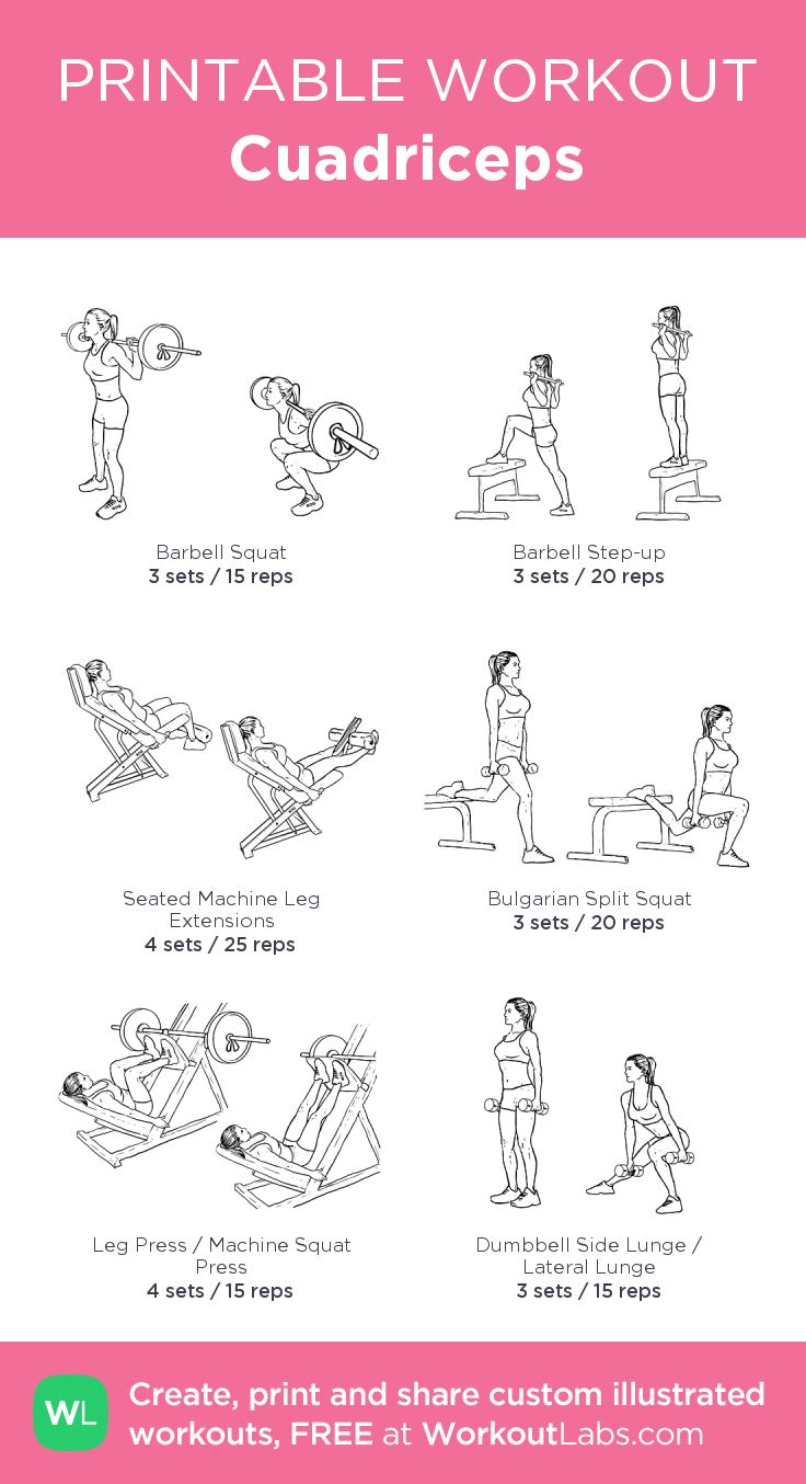 Cuadriceps:my visual workout created at WorkoutLabs.com • Click through to customize and download as a FREE PDF! #customworkout