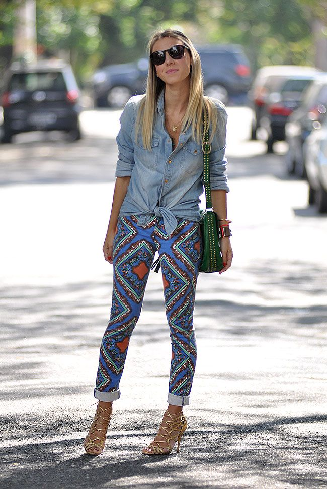 LENCO4 Meu Look: Calça Lenço Printed Pants Printed Jeans Meu Look Lost´n´found Jeans Estampa Lenço Estampa Camisa Jeans Calça Estampada Analoren
