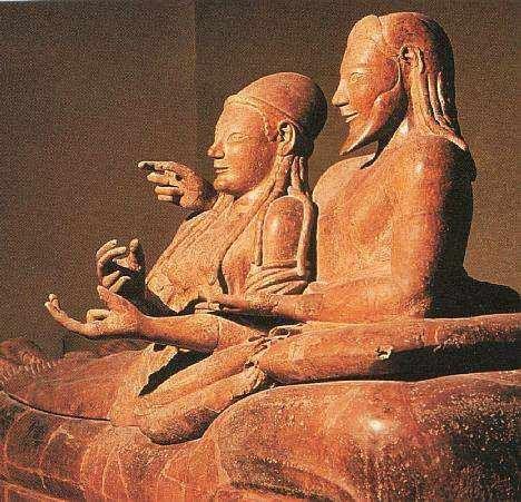 Etruscan Art - házastársak szarkofágja, terrakotta, etruszk