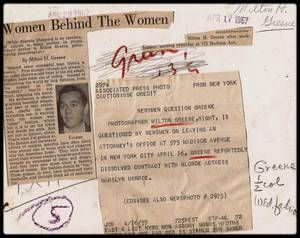 """16 Avril 1957 / FIN D'UNE ASSOCIATION / Ce jour là à New York, c'est accompagnée de son mari Arthur MILLER que Marilyn annonce aux journalistes le renvoie de Milton GREENE (vice-président des """"Marilyn MONROE Productions""""), de l'avocat Irving STEIN et du comptable Joseph CARR de sa société """"Marilyn MONROE Productions"""". Leurs remplaçants étaient Robert H. MONTGOMERY Jr (le conseiller juridique de MILLER), George KUPCHIK (le beau-frère de MILLER au poste de directeur financier de la société de…"""