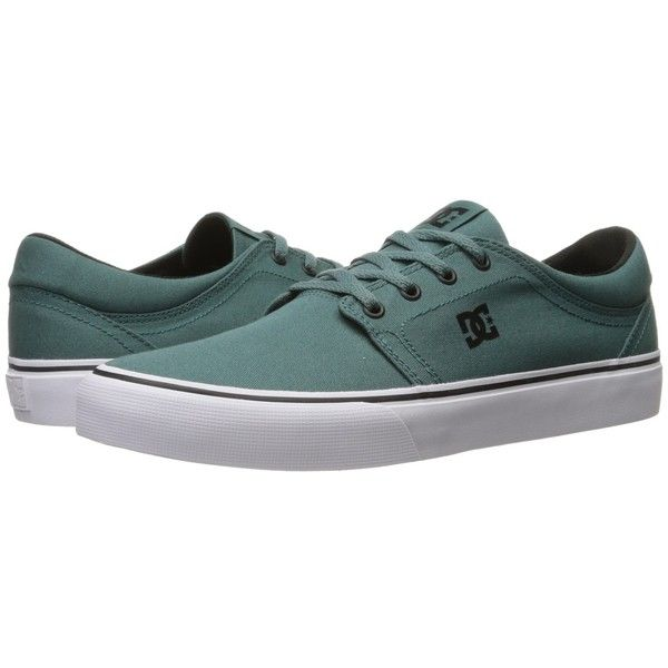 DC Trase TX (Sea) Skate Shoes (€35) ❤ liked on Polyvore featuring shoes, sneakers, low profile skate shoes, canvas low tops, dc shoes, low top and low top canvas sneakers