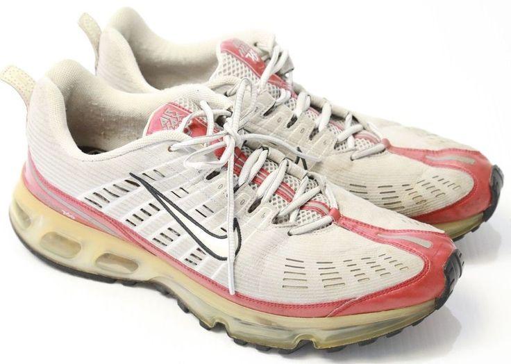 Men's Nike Air Max 360 Sneakers Athletic Shoes Grey/Red Size 12 #Nike #RunningCrossTraining