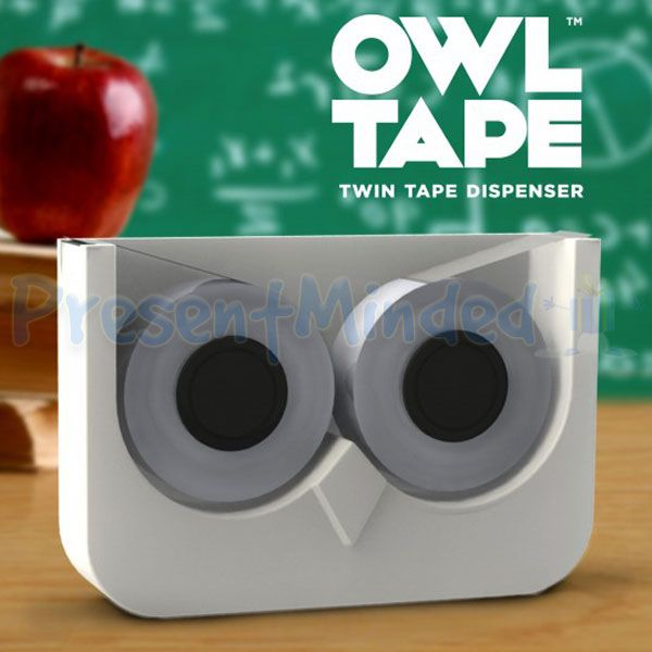 Owl Tape Novelty Twin Double Sticky Tape Dispenser Great Office Desk Stationary Gift Idea