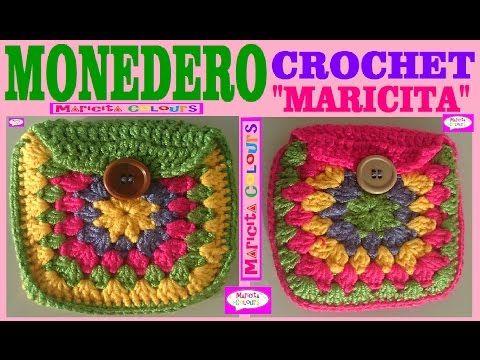 "Monedero Vintage a Crochet ""Maricita"" (Parte 2) Tutorial Gratis por Maricita Colours - YouTube"