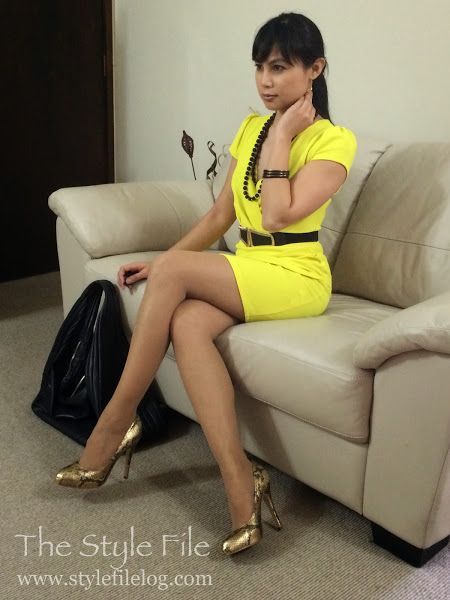 Not a mellow kind of yellow | The Style File #workwear #bodycon #yellow