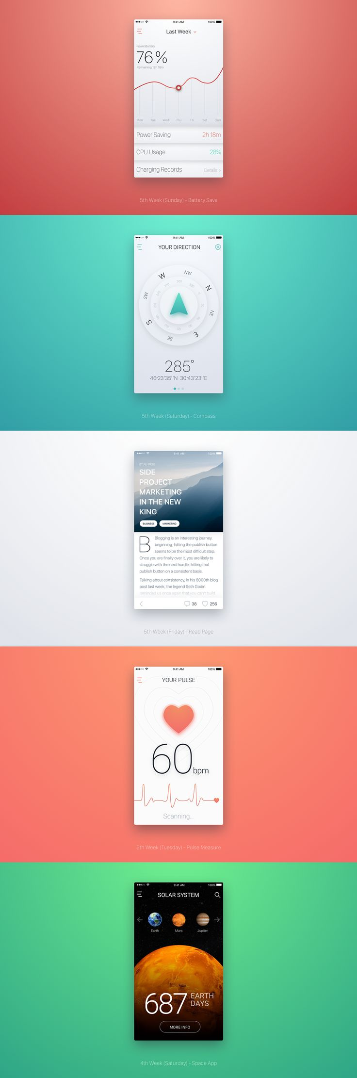 12 weeks marathon in Sketch on Behance
