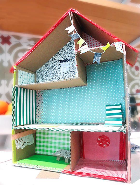 6 Ways To Make A Cardboard Dollhouse Kids Crafts With Joann