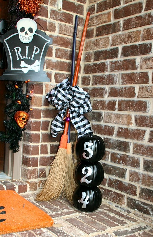 love the brooms and ribbon