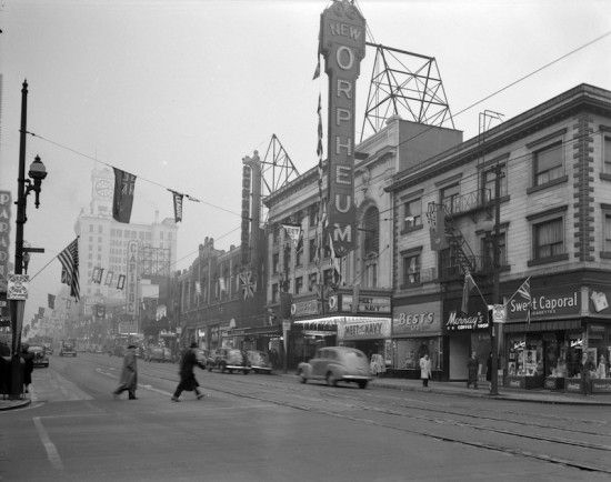 """""""Forbidden Vancouver's new walking tour The Granville Street Reveal treats guests to a view of the downtown Vancouver of yesteryear."""" 