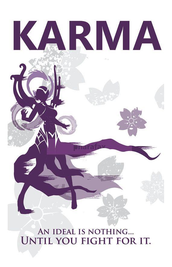 Karma: League of Legends Print por pharafax en Etsy