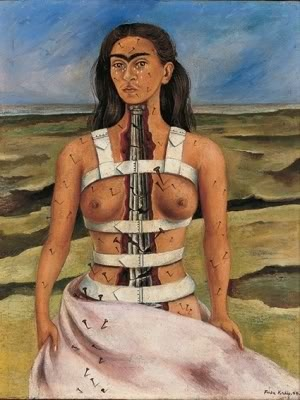 The Broken Column (La columna rota)' (1944) oil on Masonite by Frida