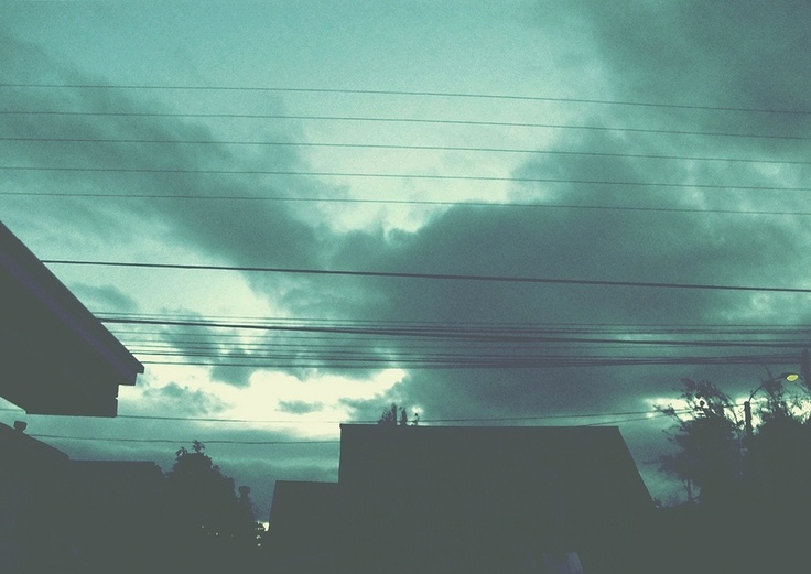 Vista desde mi ventana cuando vivía en Chillán.