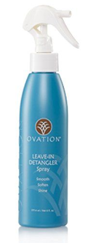 Ovation Hair Leave-In Detangler Spray +Bonus Brush  //Price: $ & FREE Shipping //     #hair #curles #style #haircare #shampoo #makeup #elixir