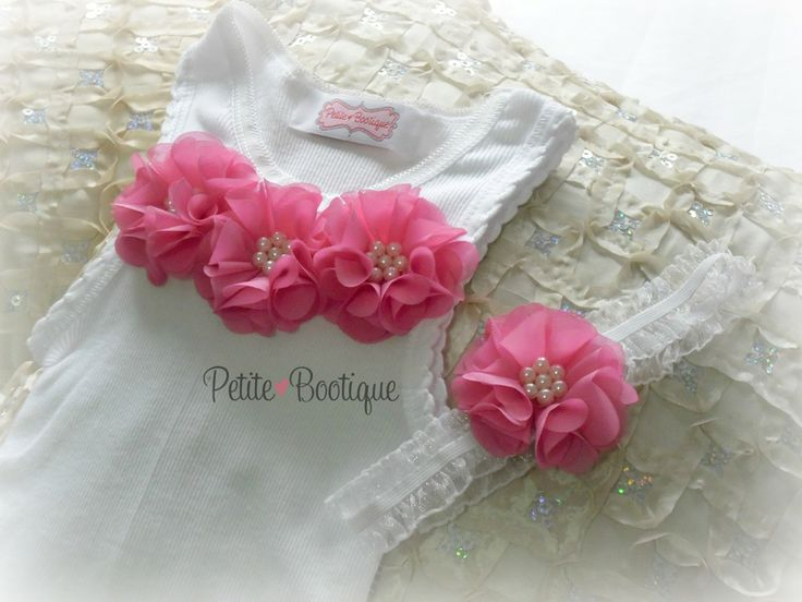 Hot Pink Embellished Singlet & Headband Set <3 Starting from $18.95 + p&h <3 www.facebook.com/petitebootique