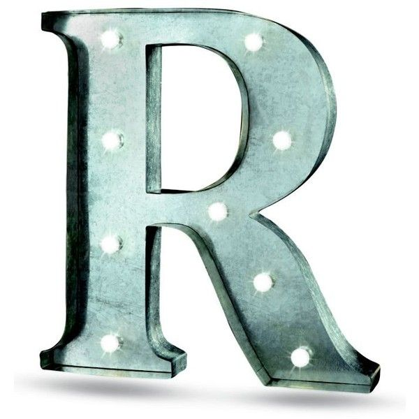 Order  Home Collection Gray R Led 13.5-In. Marquee Sign (255 MXN) ❤ liked on Polyvore featuring home, home decor, wall art, grey, gray home decor, grey home decor, metal home decor, metal wall art and metal signs
