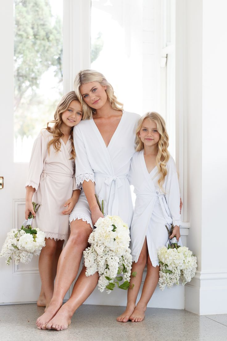 Why Flower Girl Robes are the Must-Have of 2018. #sponsored