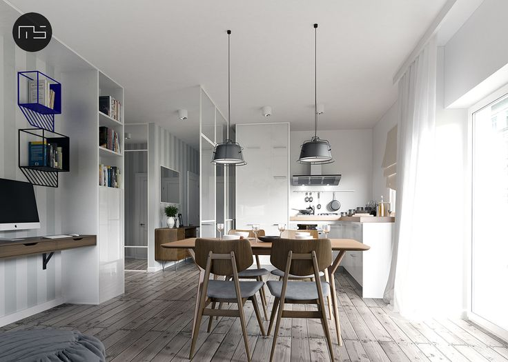 Two-bedroom apartment on Behance
