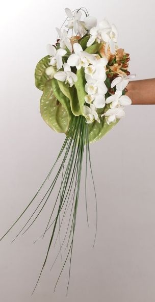 Bridal Bouquet | Bouquet Sposa | Bukiet Slubny: anthurium & phalaenopsis