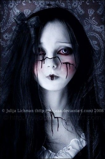 Corpse Bride Halloween Nightmare Before Christmas Face Paint - 2015 DIY Makeup - LoveItSoMuch.com