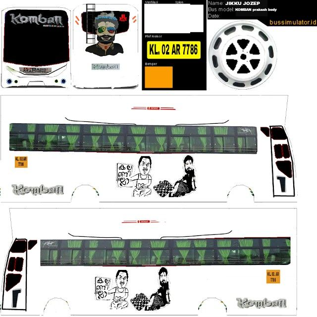 Pin By Ggg Bhh On Komban Bus Livery With Images Graphic Card
