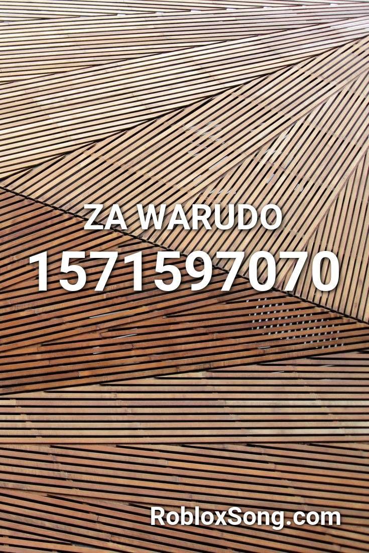 Za Warudo Roblox Id Roblox Music Codes Songs Roblox Coding